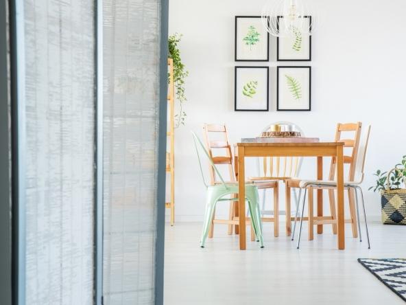Room divider in cozy apartment